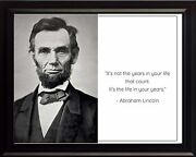 Abraham Lincoln Photo Picture, Poster Or Framed Famous Quote It's Not The..