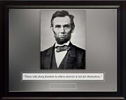 Abraham Lincoln Photo Picture, Poster Or Framed Famous Quote Those Who Deny