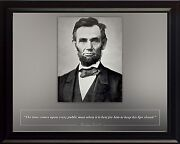 Abraham Lincoln Photo Picture, Poster Or Framed Famous Quote The Time Comes