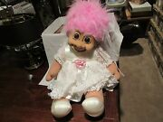 Troll , Bride And Groom Dolls , 24 X 16 , Old / New Inventory , Vintage , Russ