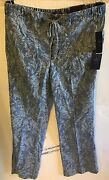 Nydj Jamie Printed Relaxed Ankle Jeans Color Palace Leaves Size 16 Brand New