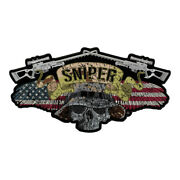 Sniper Winged Skull Camouflage Patch Military Sniper Patches