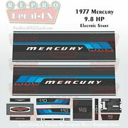 1977 Mercury 9.8 Hp Electric Start Outboard Repro 14pc Marine Vinyl Decal 110