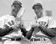 Ted Williams And Joe Dimaggio At Fenway Park In 1950 - 8x10 Sports Photo Zy-750