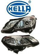 For Mercedes W207 Set Of Driver And Passenger Headlight Assembly Xenon Oem Hella