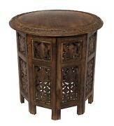 Wood Coffee Accent Antique Table Solid Wooden Living Room Vintage Side Furniture