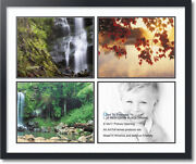 Arttoframes Collage Mat Picture Photo Frame - 4 11x14 Openings Satin Black 9