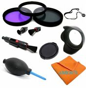 40.5mm Hd 3 Filter Kit + Hood +cap + Accessories For Sony Alpha A5000 A6000 Hd