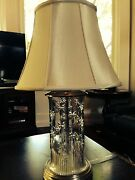 Lamp-waterford Stunning Morgana 30table Lamp W/shade And Finial Mint