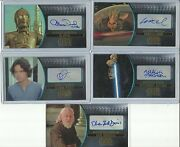 2016 Topps Star Wars Attack Clones 3d Widevision Gold Autograph Card Ed / 10