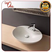 Lay-on Washbasin With Hole Tap - Scarabeo Series Moai
