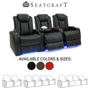 Seatcraft Delta Leather Home Theater Seating Recliners Seat Chair Couch