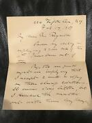 Charles G.d. Roberts Autograph Letter 1907 Canada