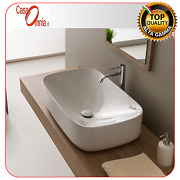 Lay On Washbasin Without Tap Hole - Scarabeo Moon H18