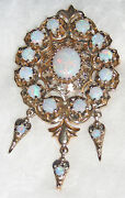 Opal And 14k Gold Pin Pendant Circa 1960s Purchased In Montreal Canada