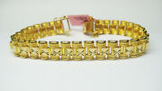 8 Inch 22kt Yellow Gold Unique Bracelet  32.1 Gram  Width 0.50and039and039