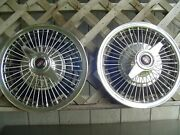 1965 65 Oldsmobile Cutlass F85 Starfire Holiday Spinner Wire Hubcaps Wheel Cover