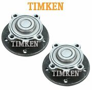 For Bmw 1and3 Series X1 Z4 Pair Set Of Front Wheel Bearings And Hubs Timken Ha590162