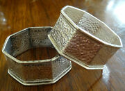 Two 2 Wmf Sterling Silver Hand Hammered Napkin Rings