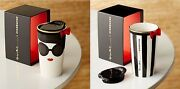 New Starbucks Alice + Olivia Double Wall Mug Stacy Face 355ml Drink Cup F/s