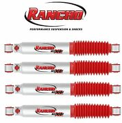 Rancho 2 Front 2 Rear Shock Absorbers For 99-04 F250 Super Duty W/ 0 Lift 4wd