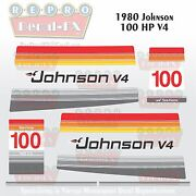 1980 Johnson 100 Hp V4 Sea-horse Outboard Reproduction 14 Pc Marine Vinyl Decals