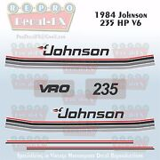 1984 Johnson 235 Hp V6 Sea-horse Outboard Reproduction 10 Pc Marine Vinyl Decals