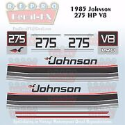 1985 Johnson 275 Hp V8 Sea-horse Outboard Reproduction 12 Pc Marine Vinyl Decals
