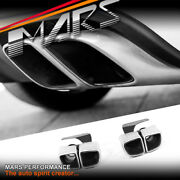 Square Gts Turbo Style Twin Outlet Exhaust Muffler Tips For Porsche Macan 95b