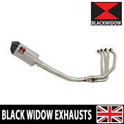 Black Widow Zx7r Zx7-r Full 4-1 Exhaust Oval Stainless Carbon Tip Silencer 200st