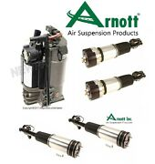 For Mercedes W220 S-class Kit Front And Rear Pair Struts W/ Rear Compressor Arnott