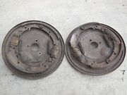 Porsche 356 B Front Drum Brake Backing Plates With Shoes