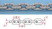 10 Ft Anchor Chain 5/16 Din766 Bbb 316l Stainless Steel Repl. Suncor S0601-0008