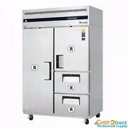 Everest Esr2d2 Full/half Door And Drawer Combo Upright Reach-in Refrigerator