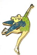 Rare Le 100 Disney Auction Pin✿tinker Bell Tink Winter Sports Figure Ice Skating