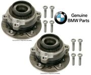 For Bmw F07 F10 F22 F23 Front Left And Right Wheel Hubs W/ Bearings Andbolts Genuine