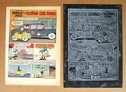 Donald Duck With Uncle Scrooge Vintage 1967 Printing Plate And Page
