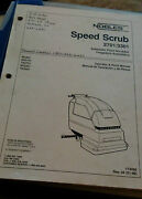Nobles Speed Scrub 2701/3301 Automatic Floor Scrubber Operations And Parts Manual