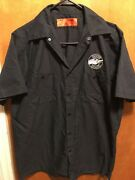 Goose Island Beer Brewery Chicago Mens Med Delivery Work Shirt Bourbon County