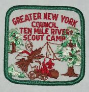 Ten Mile River Scout Camps Ny Lot Of 4 Pocket Patches Incl Error Bsa 0140