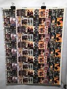 Beatles River Group Trading Cards Uncut 100 Card Sheet 20 Diff Pics Poster Size