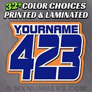 Mx Number And Name Plate Decals Sticker Sliced Style Race Atv Sx Dirt Bike Kart Yz