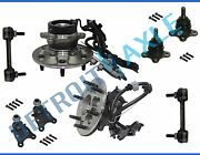 Front Wheel Bearing W/ Abs Ball Joint Sway Bar Link Kit For Colorado 2wd -no Z71