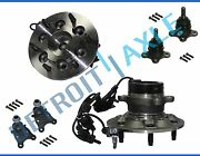 New 6pc Front Wheel Hub And Bearing Suspension Kit W/ Abs For Colorado Canyon 2wd