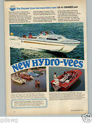 1968 Paper Ad 2 Pg Chrysler Crew New Model Hydro-vees Commodore 486 Motor Boat