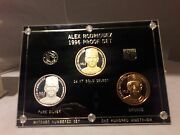 Alex Rodriguez Rare 1996 Silver And 24kt Gold Select Proof Set Seattle Mariners