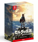 New The Legend Of Zelda Breath Of The Wild Collector's Edition From Japan