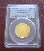 2011-w 10 Pcgs Pr69 Eliza Johnson First Spouse Gold Proof Coin