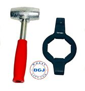 4lbs Red Dayton Type Lead Hammer And 8 Side Hex Tool Set