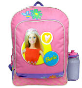 Licensed Barbie Lover 16 Pink Large Cargo Backpack With Water Bottle